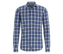 Baumwollhemd blau / rot
