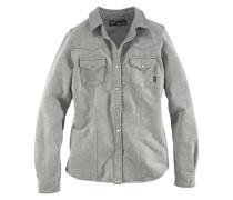 Jeansbluse »Sweatshirtbluse in Jeans-Optik« grau