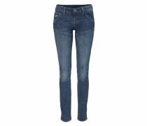 Skinny-fit-Jeans blau