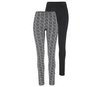 Leggings (2 Stück) grau / schwarz