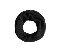 Tube-Schal aus Wollmix schwarz