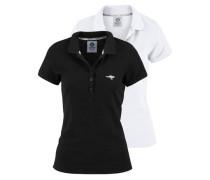 Poloshirt (Packung 2 tlg.) schwarz / weiß
