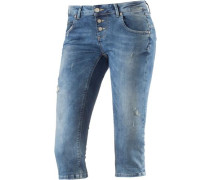 Ulla 3/4-Jeans Damen blue denim