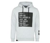 Sweatshirt 'impress' hellgrau / schwarz