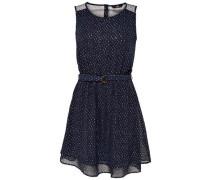 Detailreiches Kleid ohne Ärmel grau