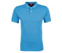 Poloshirt aus Baumwollpiqué royalblau