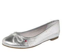 Ballerina in Metallic-Optik silber
