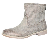 Ankle Boot mit Reptilienlederprägung taupe