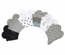 Socken (12 Paar) grau / schwarz / weiß