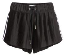 Plissee-Shorts '3 Stripes' schwarz / weiß