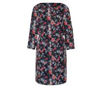 Kleid mit Blumen-Print navy / mischfarben