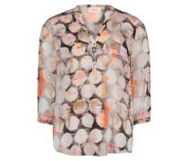 Casual-Bluse mit Knopfleiste mischfarben