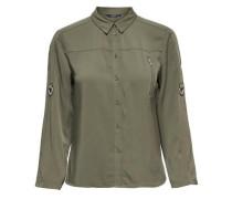 Hemd mit Reißverschluss auf der Brust khaki