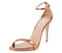 Stiletto-Sandale in Lackoptik 'Stecy' gold