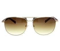Sonnenbrille Gold braun / gold