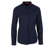 Bluse mit verdeckter Knopfleiste blau