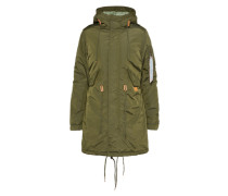 Mantel im Pilotenjackenstil 'Fishtail' dunkelgrün