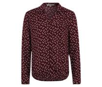 Bluse mit V-Ausschnitt rot
