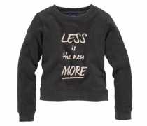 Sweatshirt mit Frontdruck champagner / anthrazit