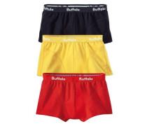 Baumwoll-Hipster (3 Stck.) gelb / rot / schwarz
