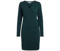 Langärmeliges Wickel Kleid grün