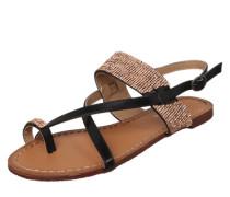 Sandalen mit Glitzersteinen 'Sand04' kupfer / schwarz