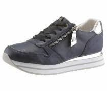 Sneaker navy / silber / weiß