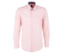 Regular: Hemd mit Nadelstreifen pink
