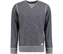 Sweatshirt 'plated' blau / grau