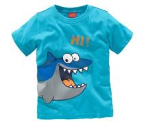 T-Shirt mit Frontdruck türkis