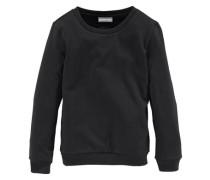 Sweatshirt mit klassischem Rundhalsausschnitt für Mädchen schwarz