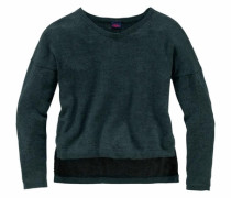 Pullover in Oversize-Form grün
