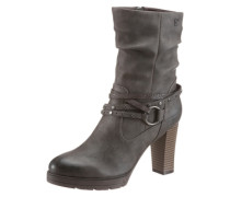 High-Heel-Stiefel grau