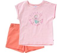 Schlafanzug für Mädchen Meerjungfrau orange / rosa