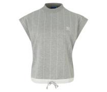 High Neck T-Shirt graumeliert / weiß