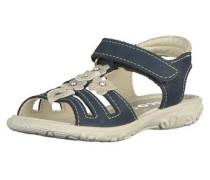 Sandalen beige / blau / dunkelblau / silber