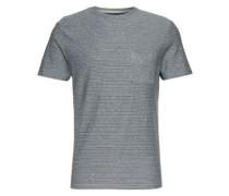 Shirt 'shhholm SS O-Neck Tee' dunkelblau / blaumeliert