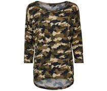 Oversize-Shirt mit Camouflage 'ONLElcos' grün