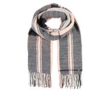 Schal mit Streifen grau / mischfarben