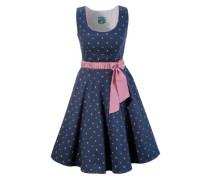 Trachtenkleid mit modischem Blumenprint blau