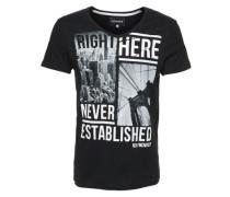 T-Shirt 'VN Photo BLK Whi' schwarz
