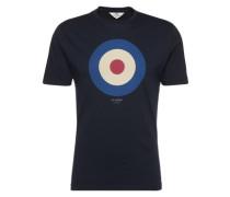 Shirt 'the Target Tee' navy / rot / weiß