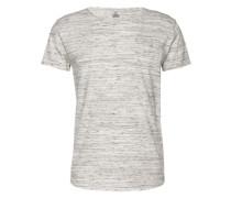 Meliertes T-Shirt 'Cimanolo' hellgrau