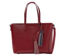 Handtasche 'Saffiano shopper' rot