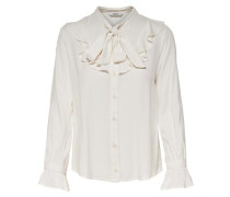 Rüschen-Langarmhemd weiß