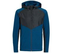 Sport-Sweatshirt dunkelblau / schwarz