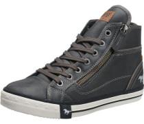 Sneaker High mit Reißverschluss graphit
