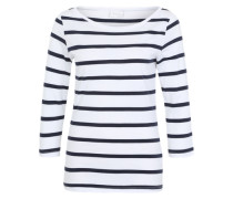 T-Shirt mit Streifen blau / weiß