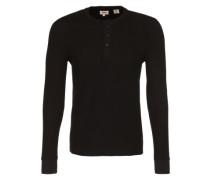 Shirt 'LS Refined Henley' schwarz