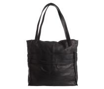 Leder Shopping Tasche schwarz